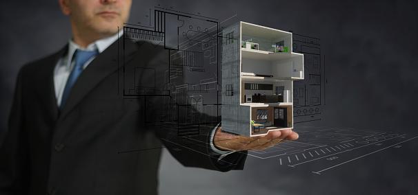 Real estate concept. Realize your interior dream