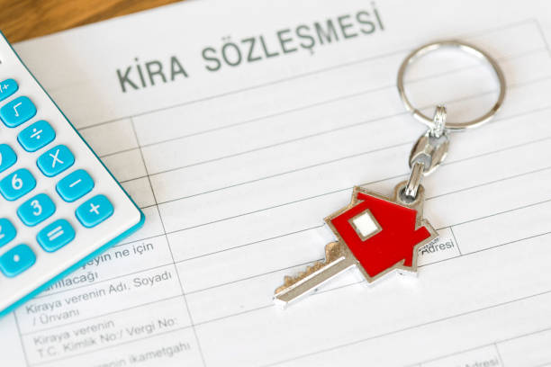 House Key And Calculator Isolated Stock Photos, Pictures