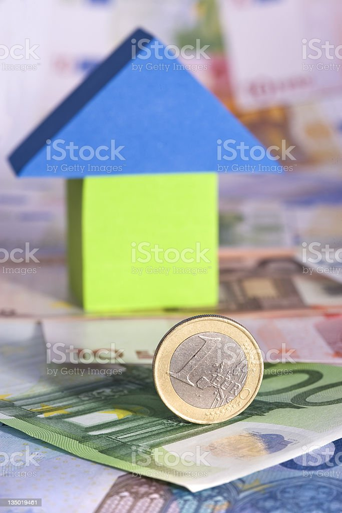 Real Estate Concept With Euro Banknotes royalty-free stock photo