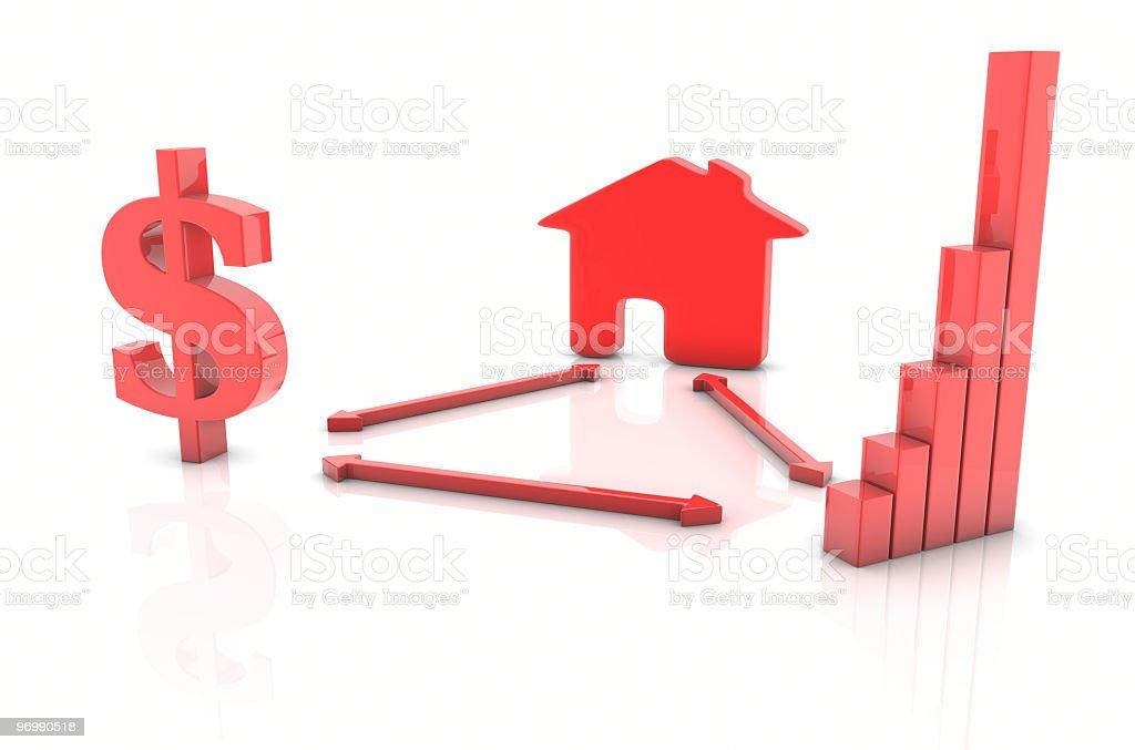 Real Estate Dollar Economy stock photo