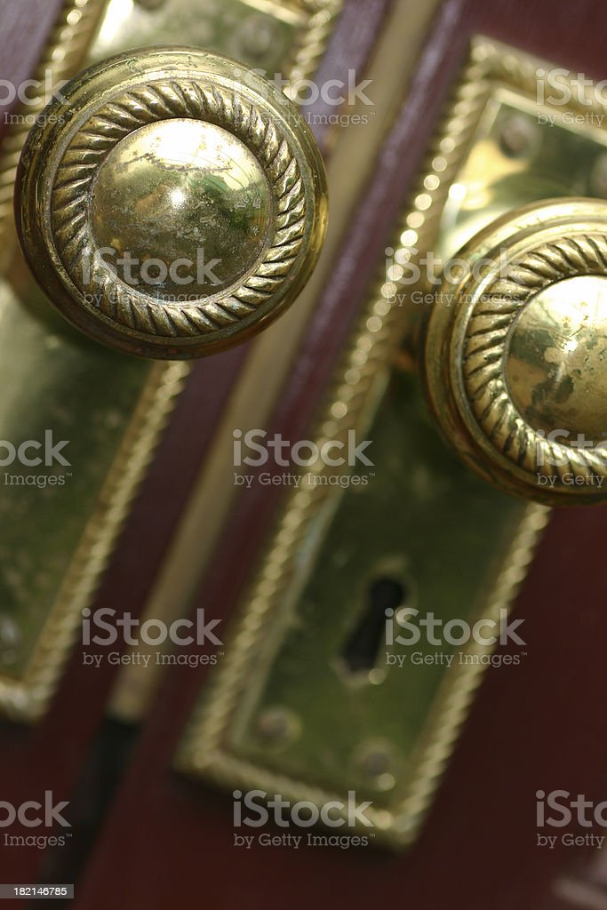 Real Estate - Door Knobs royalty-free stock photo