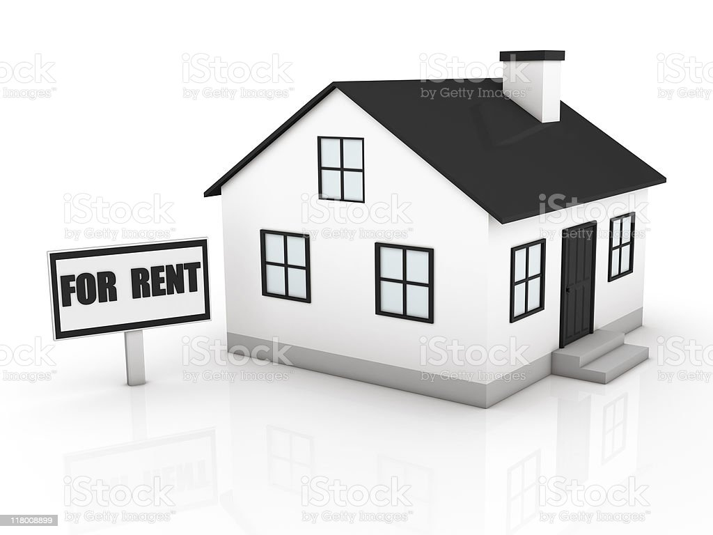 Real Estate for Rent royalty-free stock photo
