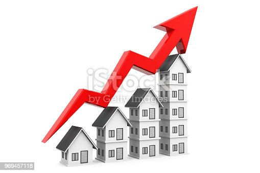 istock Real estate growth chart 969457118