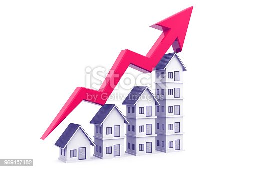 istock Real estate growth chart 969457182