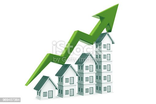 istock Real estate growth chart 969457364
