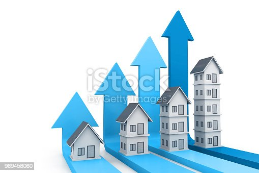 istock Real estate growth chart 969458060