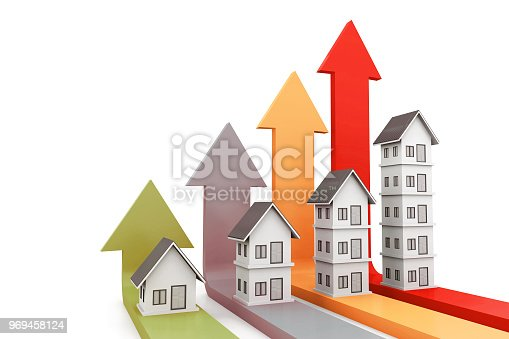 istock Real estate growth chart 969458124