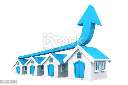 istock Real estate growth chart 969461010