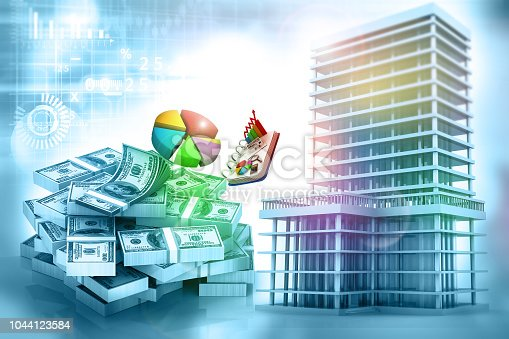 istock Real estate growth graph 1044123584