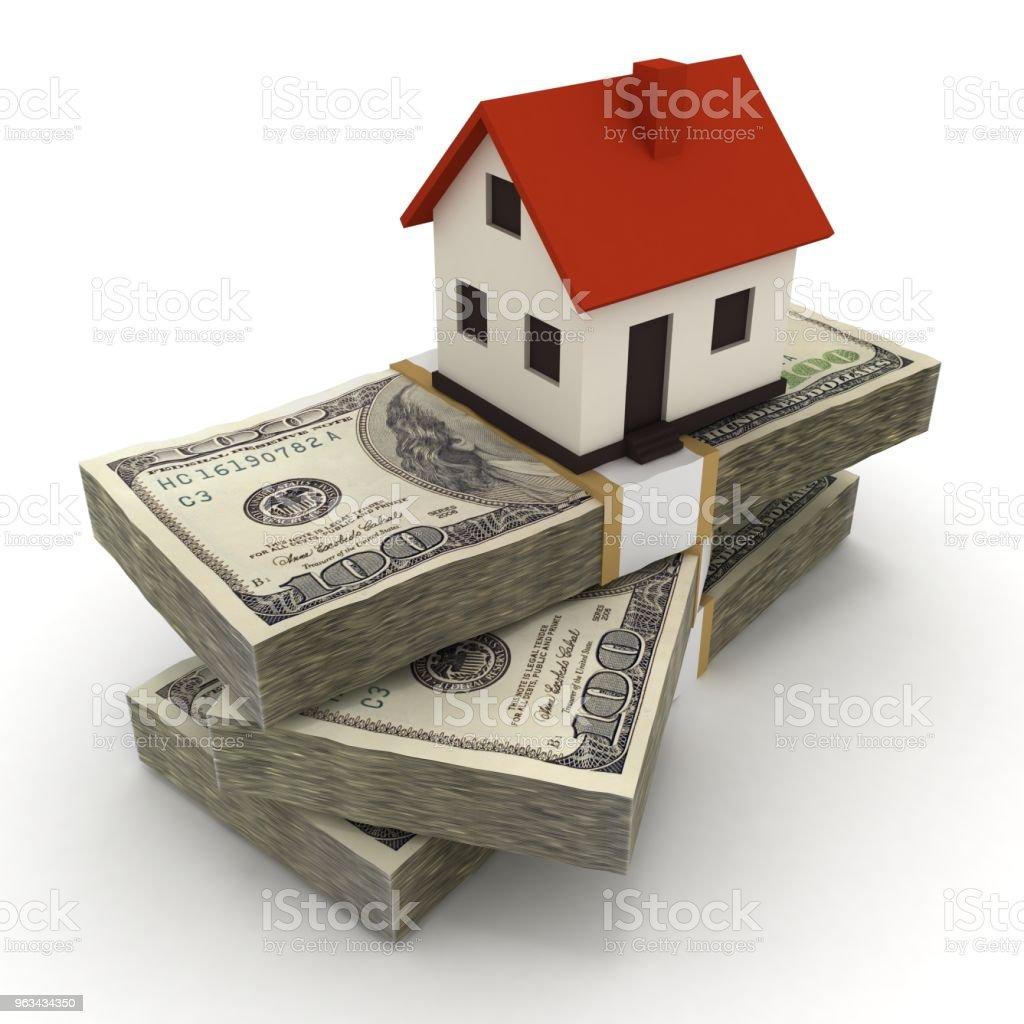 Real estate house mortgage money - Zbiór zdjęć royalty-free (Agent nieruchomości)