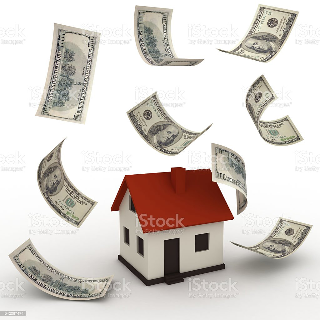 Real estate house price mortgage payment concept stock photo
