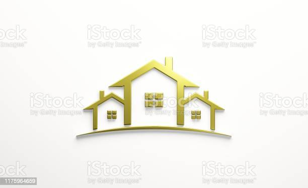 Real estate houses gold logo design 3d rendering illustration picture id1175964659?b=1&k=6&m=1175964659&s=612x612&h=h9n7 u7yo91cbht 1eax9ark4cac7jna6yntaoczmsq=