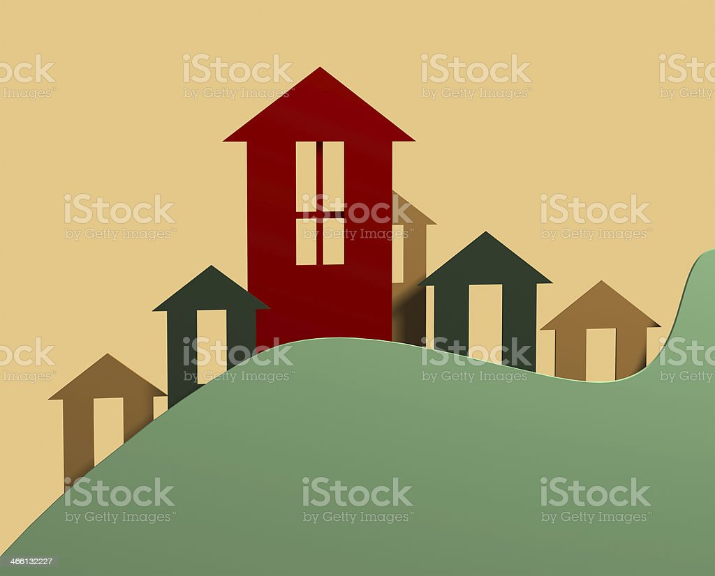 Real Estate Icons stock photo