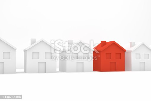 915688450istockphoto Real Estate Industry, Mortgage, New Home Concept 1140738166