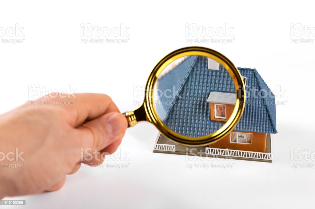 real estate inspection and valuation concept stock photo