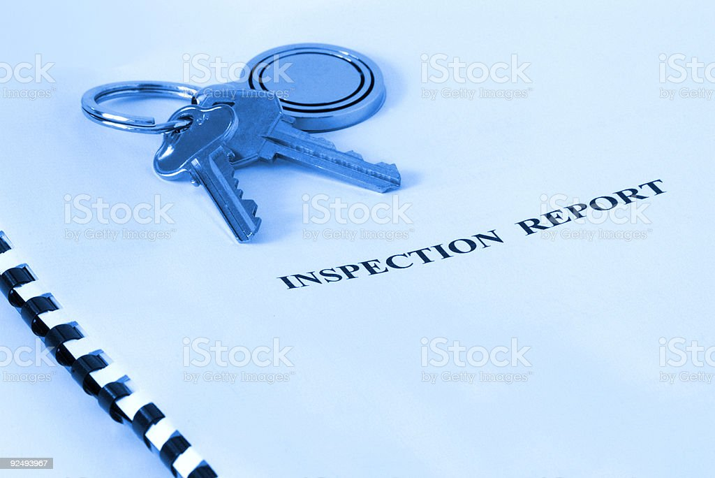 Real Estate - Inspection Report Blue Tone royalty-free stock photo