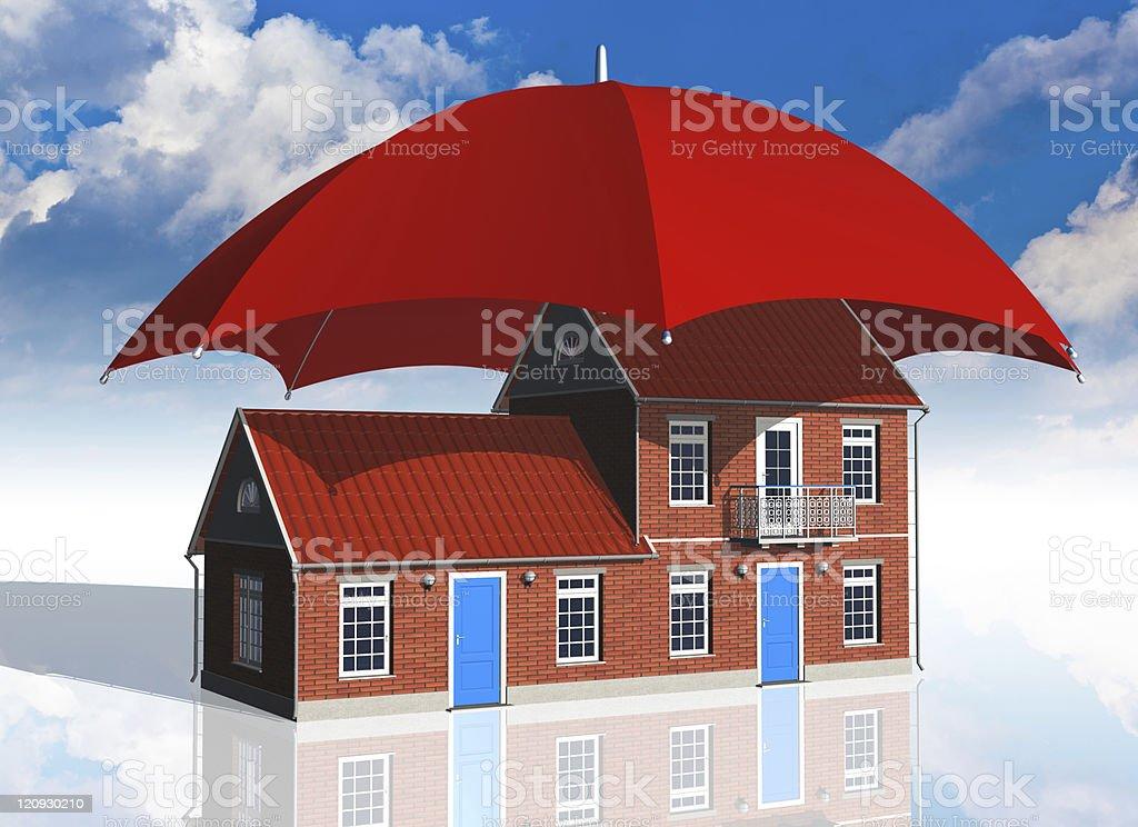 Real estate insurance concept stock photo