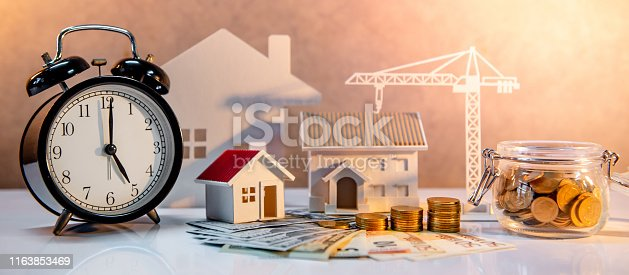 istock Real estate investment, Construction business 1163853469