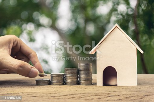 istock Real estate investment, Fundraising, Money savings for buy house, home loan, mortgage reverse concepts. 1142857640