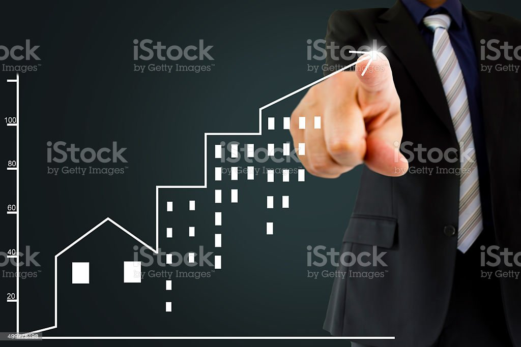 real estate investment is positive stock photo