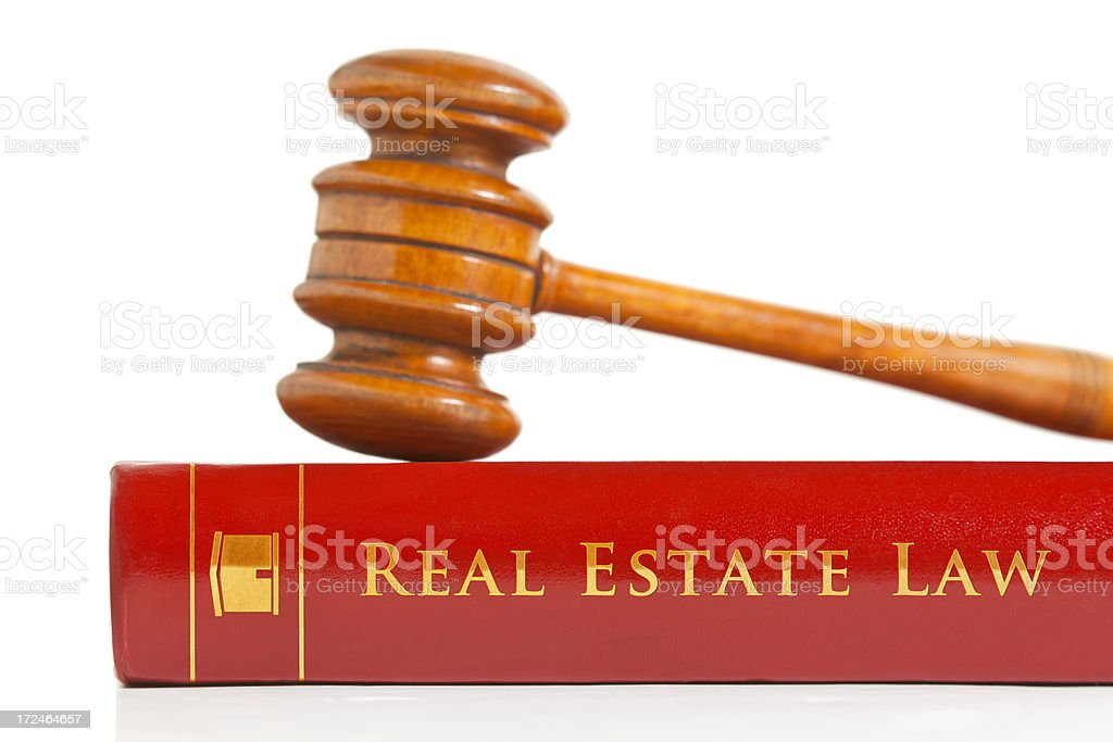 Real Estate Law Book stock photo
