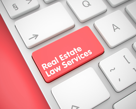 626187670 istock photo Real Estate Law Services - Text on the Red Keyboard Keypad. 3D 680729672