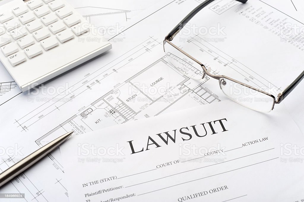 Real estate legal concept stock photo