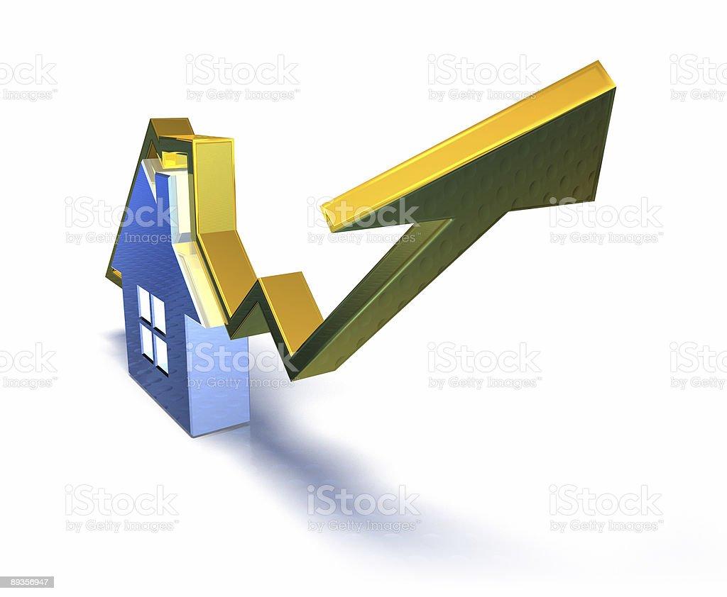 Real estate market royaltyfri bildbanksbilder