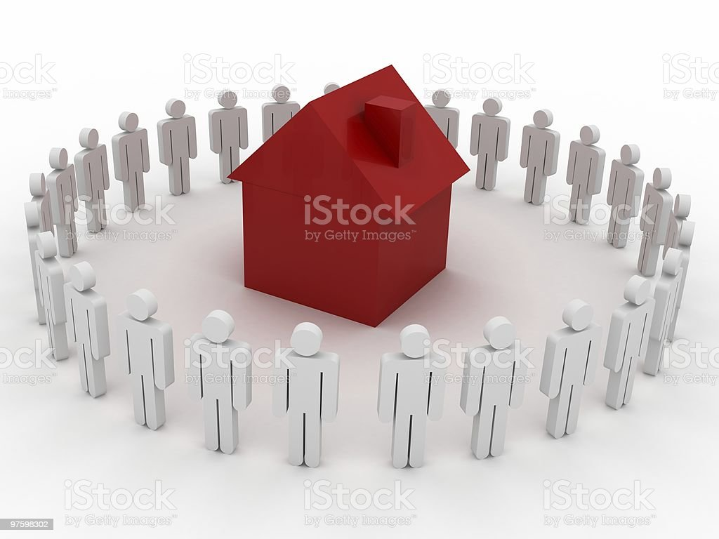 Real Estate Market royalty-free stock photo