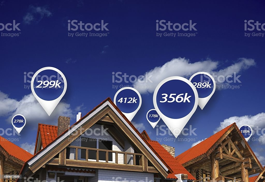 Real Estate Market Prices stock photo