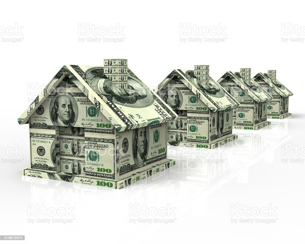 Real Estate Money House stock photo