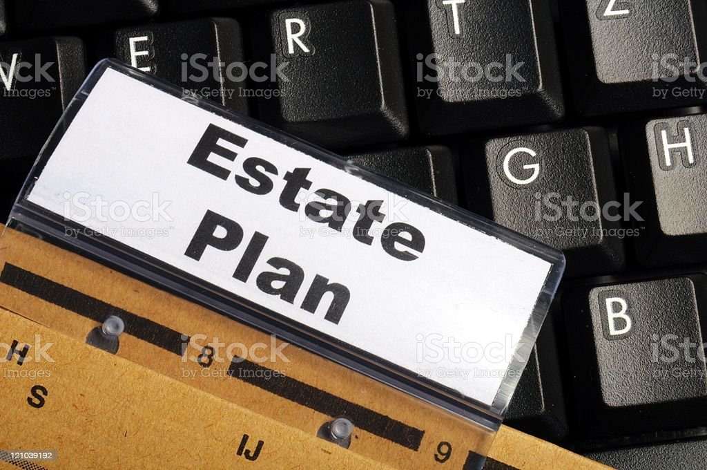 real estate plan stock photo