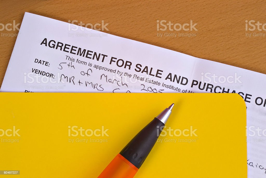 Real Estate -  Ready to Sign stock photo