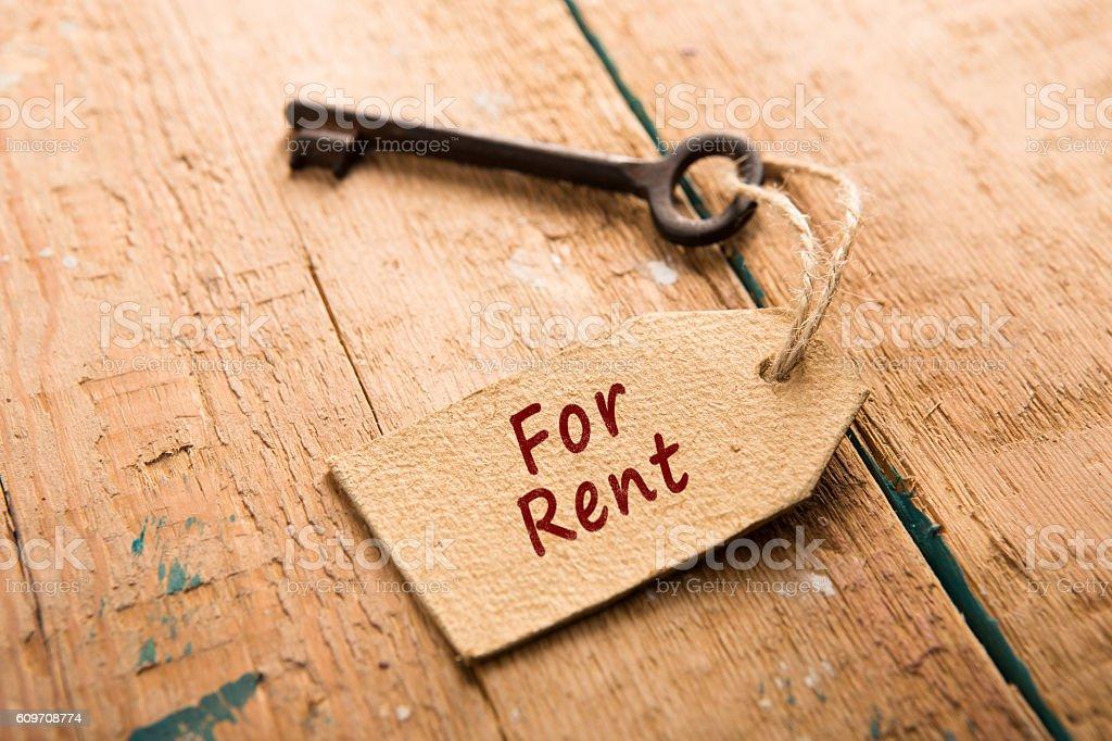real estate rent concept stock photo