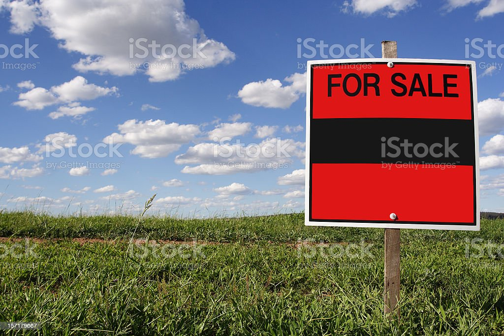 real estate sale, blank sign royalty-free stock photo