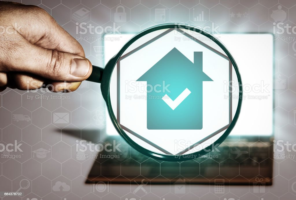 Real estate search, purchase, sale, rent, realtor services. stock photo