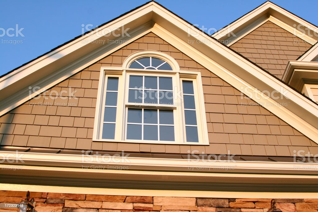 Real Estate - Second Story Window royalty-free stock photo
