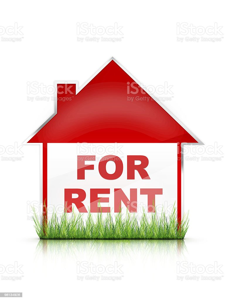 Real Estate Sign For Rent royalty-free stock photo