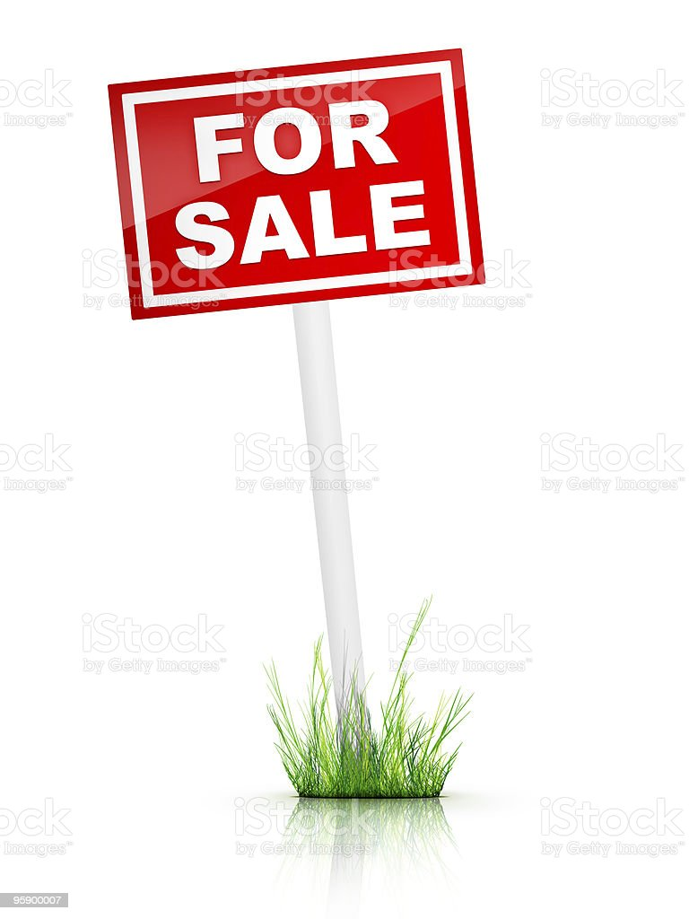 Real Estate Sign – For sale royalty-free stock photo