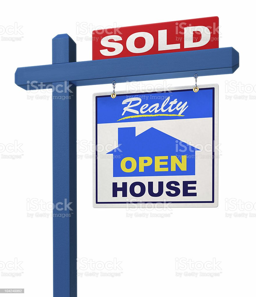 Real Estate Sign royalty-free stock photo