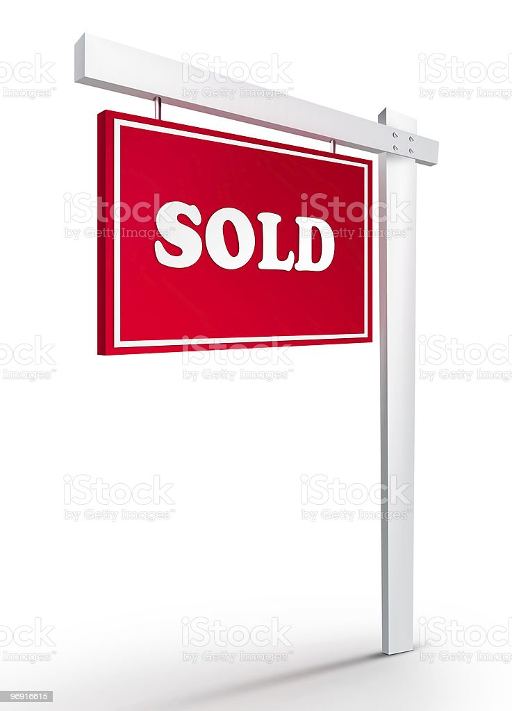 Real Estate Sign SOLD royalty-free stock photo