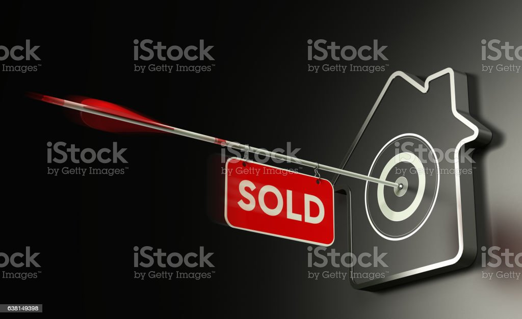 Real Estate Sold Concept, Efficient Sale Strategy. vector art illustration