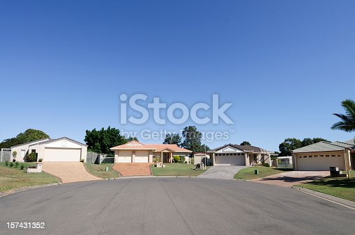 New detatched homes at a housing estate in Queensland, Australia.