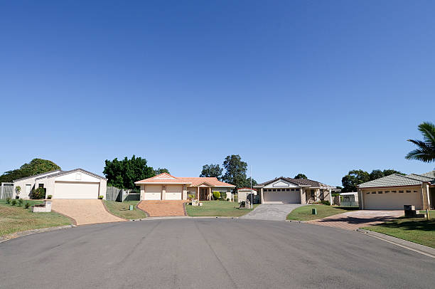 Real Estate: Suburban Cul-de-sac stock photo
