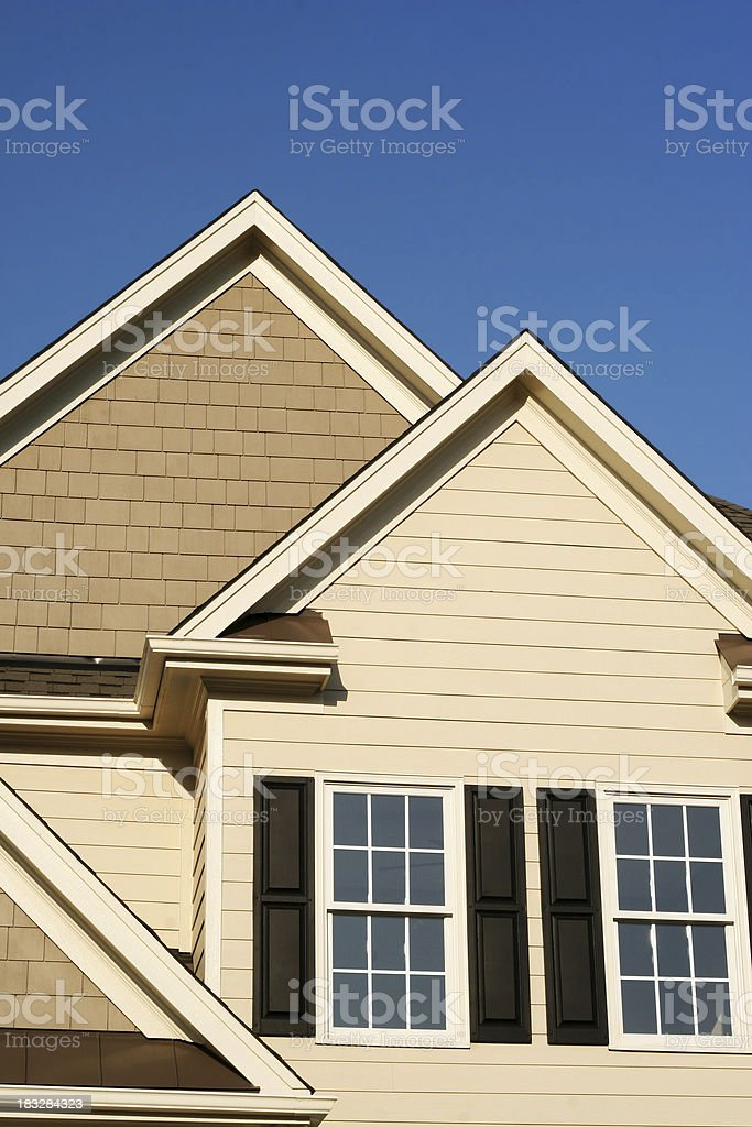 Real Estate - Top of a house royalty-free stock photo