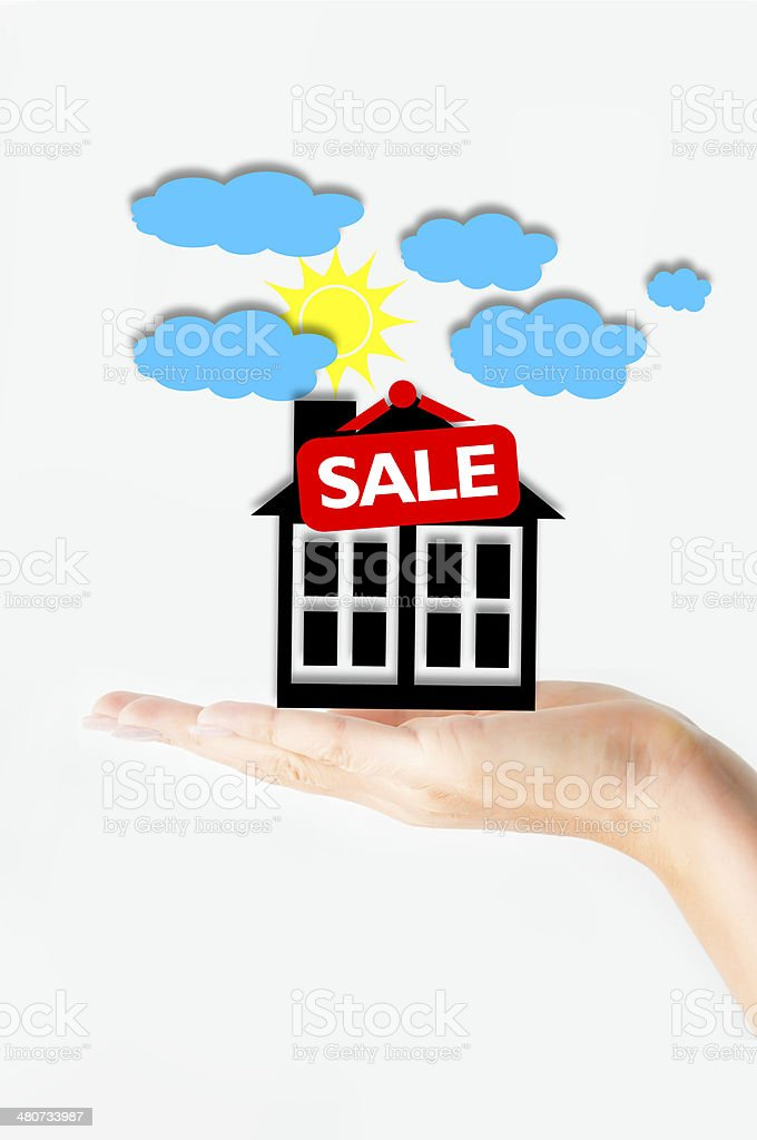 Real estate transaction stock photo