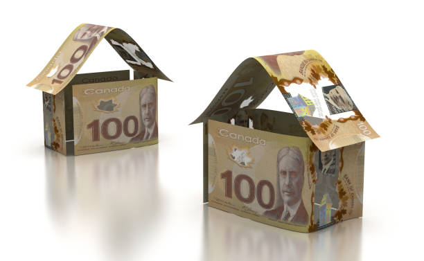 Real Estate With Canadian Dollar stock photo