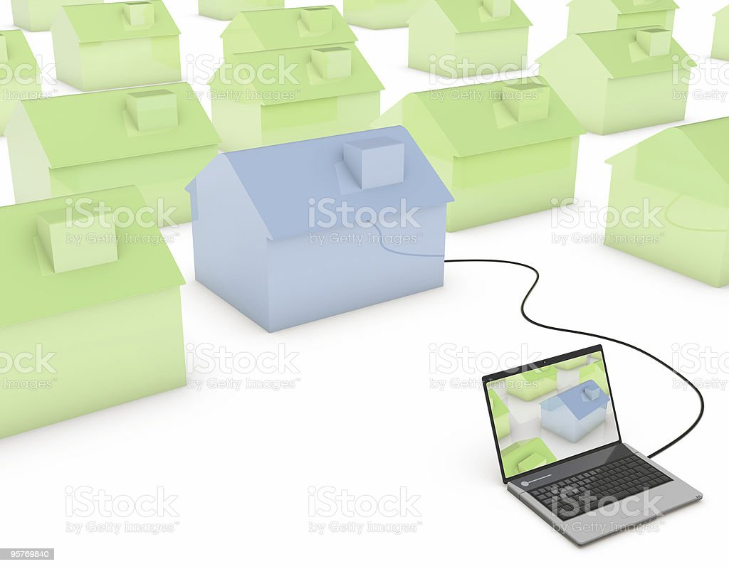 real estate with internet royalty-free stock photo
