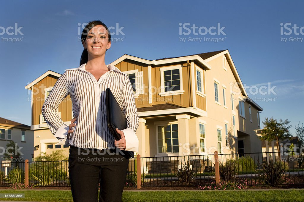 Real Estate Woman royalty-free stock photo