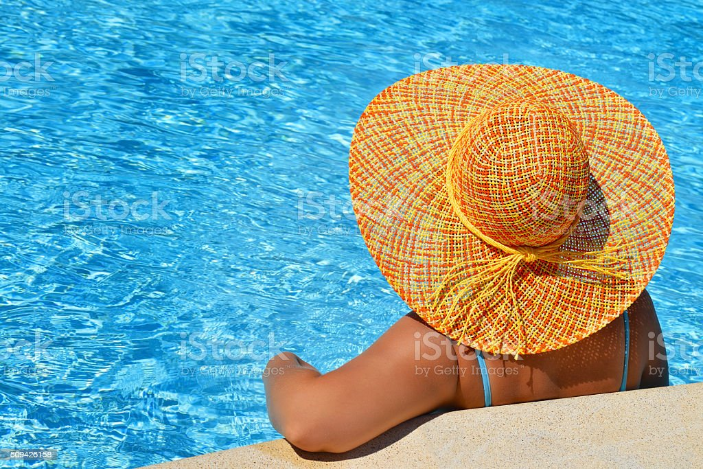 Real female beauty enjoying her summer vacation stock photo